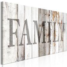 FAMILY HOLZ Wandbilder xxl Bilder auf Vlies Leinwand Leinwandbilder m-A-0960-b-a