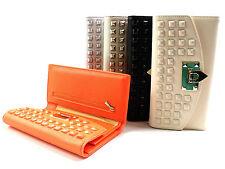 Mesdames grand sac à main clous mode titulaire de carte de crédit porte-monnaie pochette partie