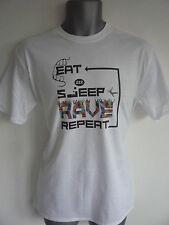 EAT SLEEP RAVE REPEAT LOGO T-SHIRT,DANCE, FATBOY SLIM, CALVIN HARRIS, IBIZA