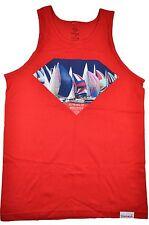 Diamond Supply Co.YACHT CLUB EXELLENCE TANK Red Boat Sailing Men's Tank Top