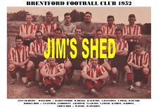 BRENTFORD FC TEAM PRINT 1952 (TOMMY LAWTON / RON GREENWOOD / BILLY DARE)