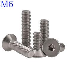 M6 316 A4 Stainless Steel Countersunk Flat Head Socket Caps Hex Screws DIN 7991