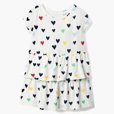 NWT Gymboree White Ruffle Heart Dress Toddler Girl 18-24M,2T,3T