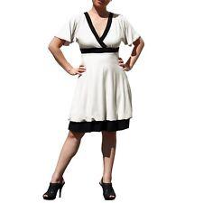 Evanese Women's Plus Short Kimono sleeve Bubble skirt Casual Cocktail Day Dress