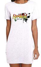 Herbalist Cannabis Reggae Women's T-Shirt Dress - Rasta Weed Hydroponics