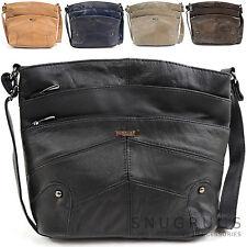 Damen / Damen Leder Schulter / Umhängetasche mit Viele Taschen