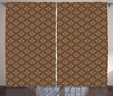 Damask Curtains 2 Panel Set Home Decoration 5 Sizes Available Window Drapes