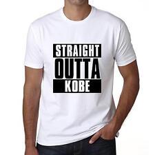 Straight outta KOBE Tshirt Col Rond Homme T-shirt, Blanc, Cadeau