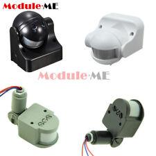 White/Black/Grey DC12V/AC 220-240V 12M 180° PIR Motion Sensor Detector Switch UK