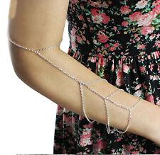 Gold/Silver Upper Arm Slave Chain Harness 3 Tassel Chain Bracelet!