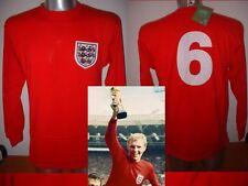 Inghilterra 1966 Moore Retrò Maglia Jersey Bnwt S M L XL WEST HAM FOOTBALL COTONE L / S