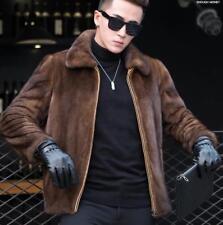Hot Mens Faux Fur Coat Furry Warm Thick Casual Winter Short Jacket Outwear Parka