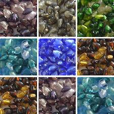 10 Hoja de plata de cristal corazón Murano Beads 12mm-Elija El Color
