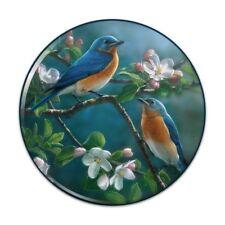 Eastern Bluebirds Blue Birds Thrush Pinback Button Pin Badge