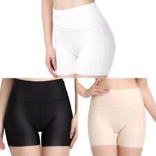 Womens Short Seamless Leggings Soft Under Trousers Silm Safety Silk Nylon