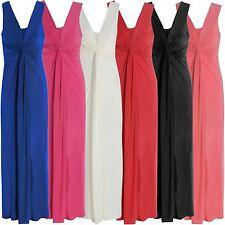 Nouveau Femmes Grande Taille Twist Knot longue maxi robe de soirée 44-54