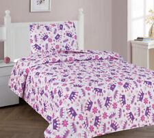 Princess Purple Crown Kids Girl Room Soft Bedspread Coverlet Quilt Shams 2/3PC