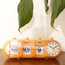 Orologio da Tavola a Conchiglia Data Calendario Flip Modello Watch per Casa