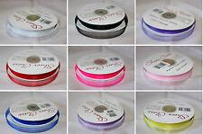 10mm Premium Organza Ribbon Woven Edge Full Roll 50 Yards - Choose Colour