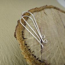 Fish Hook Earwires - Long French Hook Ear Wires - Sterling Silver Earring Hooks