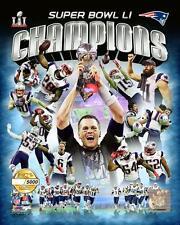 New England Patriots Super Bowl LI Team Composite Photo TU130 (Select Size)