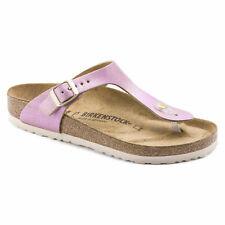 Birkenstock Leather GIZEH Washed Metallic Pink BNIB 1012903