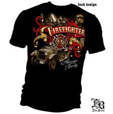 FIREFIGHTER T-SHIRT FIREMEN FIRE RESCUE FIRE DEPT FIRE TRUCK TEE  S-3XL MENS NEW