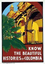 Vintage Colombia Tourism Poster 2 A3 Print