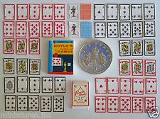 DOLLS HOUSE MINIATURE 54 PLAYING CARDS - HOYLES RULE BOOK - SCORE PAD - Handmade