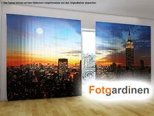 "Fotogardinen ""NewYork"" Vorhang mit Motiv, 3D Fotodruck, Fotovorhang, auf Maß"