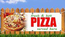 OUTDOOR PVC TAKEAWAY HOT PIZZA BANNER KEBAB SHOP SIGN ADVERT FREE ART WORK