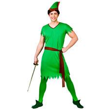 Adult Mens Lost Boy Elf Robin Hood Medieval Fancy Dress Costume Outfit 3210