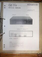 Service Manual Kenwood GE-711 Equalizer,ORIGINAL