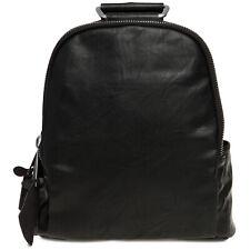 CASPAR TS1049 Zaino Grande Vintage Unisex Donna Uomo City Bag Manico in Metallo
