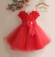 Baby Natale Matrimonio Flower Girl Damigella D'onore Abito Da Party occasione 3 mesi - 8 ANNO