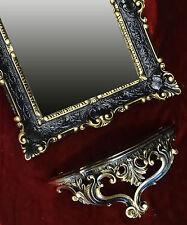 Miroir mural + DEPOSE console comme jeu MIROIR ANTIQUE BAROQUE OR NOIR 56x46