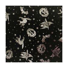 Satin Fabric Metallic Foil Spooky Night Halloween 100% Polyester 150cm Wide