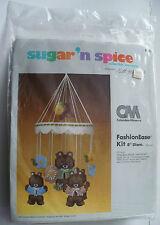 VINTAGE 1981 COLUMBIA MINERVA SUGAR'N SPICE THREE BEARS MOBILE KIT #8351 NEW