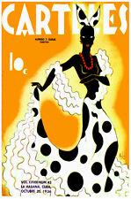 Cuban Vintage POSTER.Stylish Graphics.Rumbera.Dance. Room art Decor.699i
