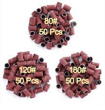 50 PCS EMBOUTS MANCHONS EMERI GRAIN 80 - 120 - 180 POUR PONCEUSE LIME A ONGLES