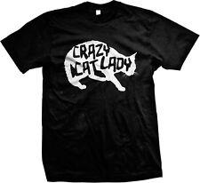 Crazy Cat Lady Kitten Kitty Funny Humor Forever Alone Joke Single Mens T-shirt
