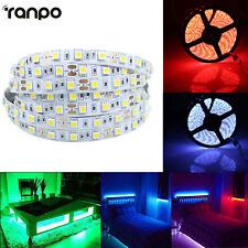 Tiras de Luz LED Impermeable 5M 12V Blanco RGB Azul 300 Leds Flexible Cinta