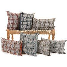New Soft Woven Decorative Grey Geometric Hexagon Pattern Fabric Cushion