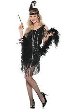 1920's Swingin Flapper Women Adult Costume (Black)
