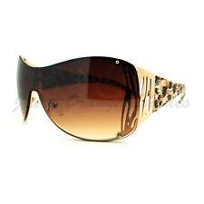 Womens Oversized Shield Sunglasses Trendy Sexy Animal Prints