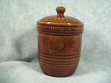 LINEN N THINGS COOKIE JAR APOTHACARY JAR, BROWN
