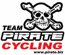 Pirate T-Shirt Team Cycling, Pirat, Skull, Gothic, Totenkopf