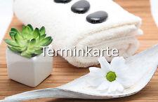 Terminkarte Terminkarten Wellness Massage Kosmetik Entspannung Sauna