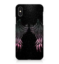 Lush Pink Metallic Black Space Angel Wings Twinkling Stars Phone Case Cover