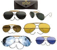 Classic Aviator Style Sunglasses Smoke Green Yellow Mirror Blue Pilot Shades